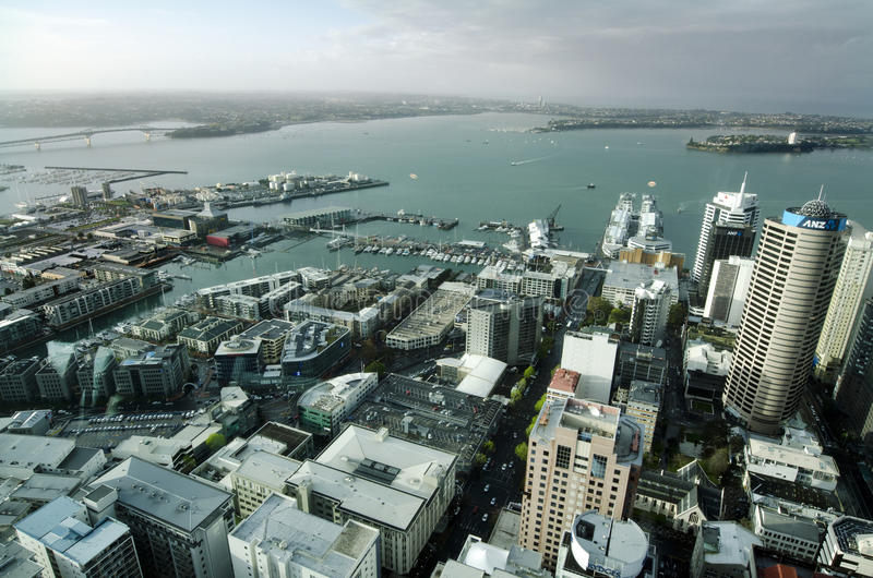 Arquitectura da cidade de Auckland CBD - Nova Zelândia NZ imagem de stock royalty free