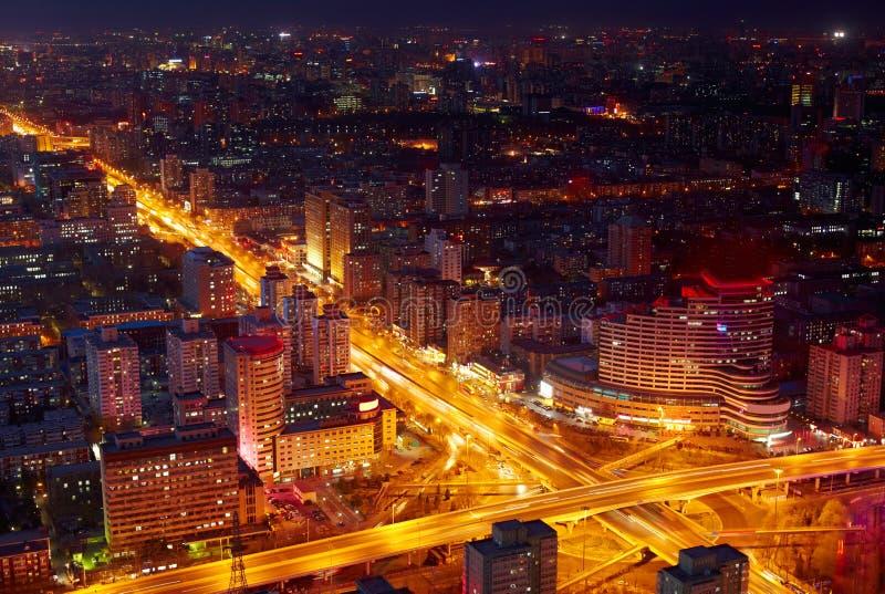 Arquitectura da cidade de Beijing no crepúsculo imagens de stock royalty free
