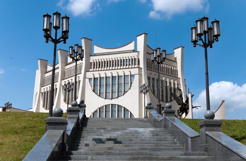 Arquitectura da cidade de Belarus Grodno o teatro do famouse foto de stock