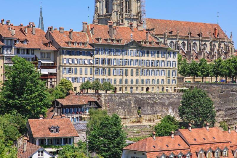 Arquitectura da cidade de Berna imagem de stock