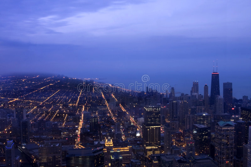 Arquitectura da cidade de Chicago Illinois fotos de stock