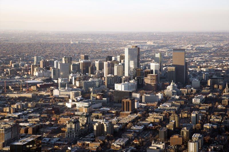 Arquitectura da cidade de Denver Colorado foto de stock
