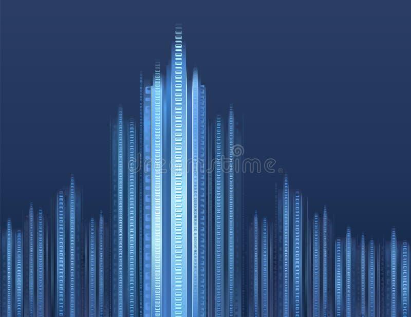 Arquitectura da cidade de Digitas ilustração stock