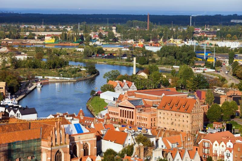 Arquitectura da cidade de Gdansk fotos de stock royalty free