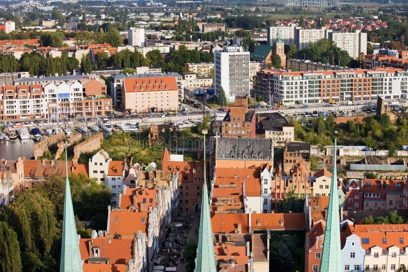 Arquitectura da cidade de Gdansk fotografia de stock
