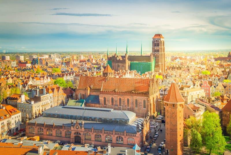 Arquitectura da cidade de Gdansk, Polônia imagens de stock royalty free