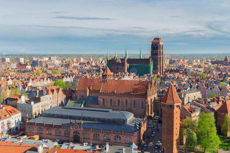 Arquitectura da cidade de Gdansk, Polônia fotografia de stock