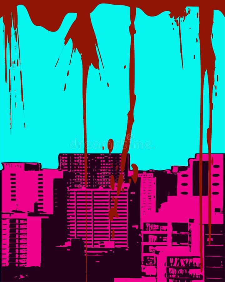 Arquitectura Da Cidade De Grunge Foto de Stock