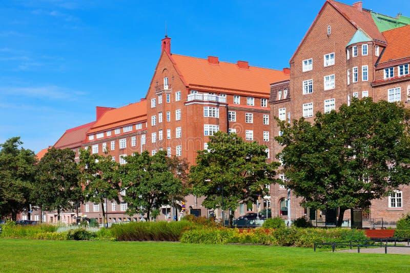 Arquitectura da cidade de Helsínquia do verão imagens de stock royalty free