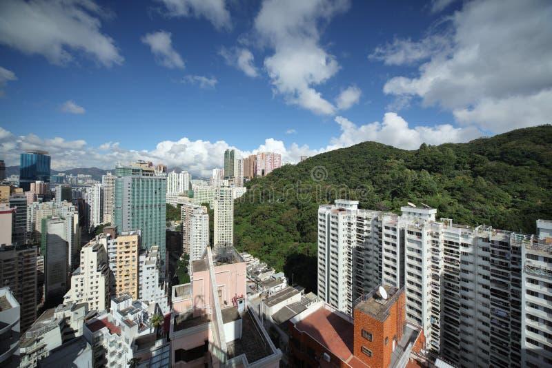 Arquitectura da cidade de Hong Kong foto de stock