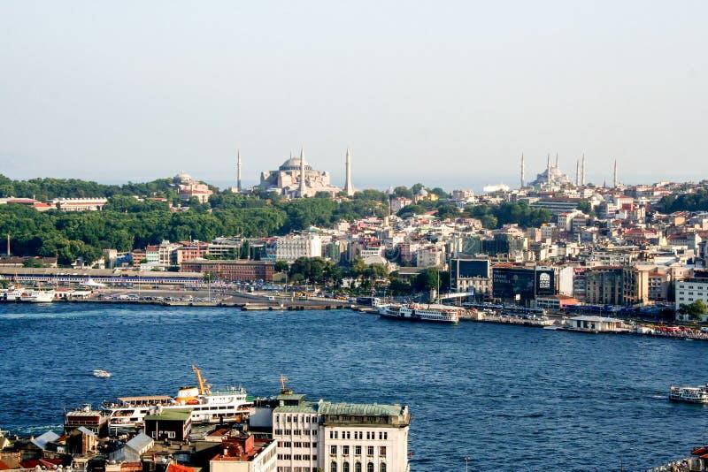 Arquitectura da cidade de Istambul fotos de stock royalty free