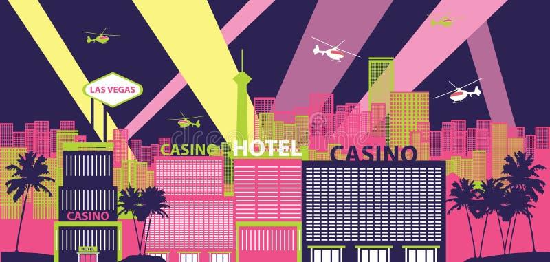 Arquitectura da cidade de Las Vegas ilustração stock