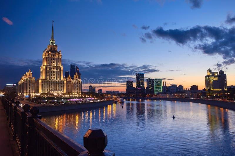Arquitectura da cidade de Moscovo foto de stock