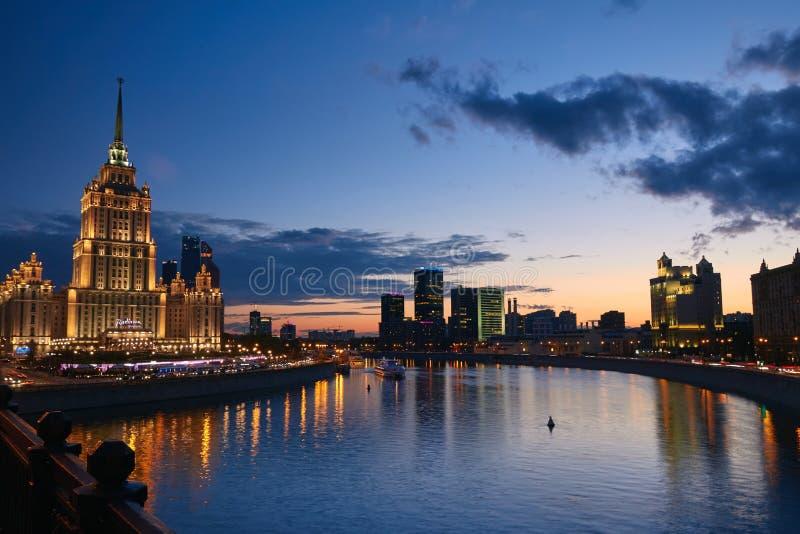 Arquitectura da cidade de Moscovo imagem de stock