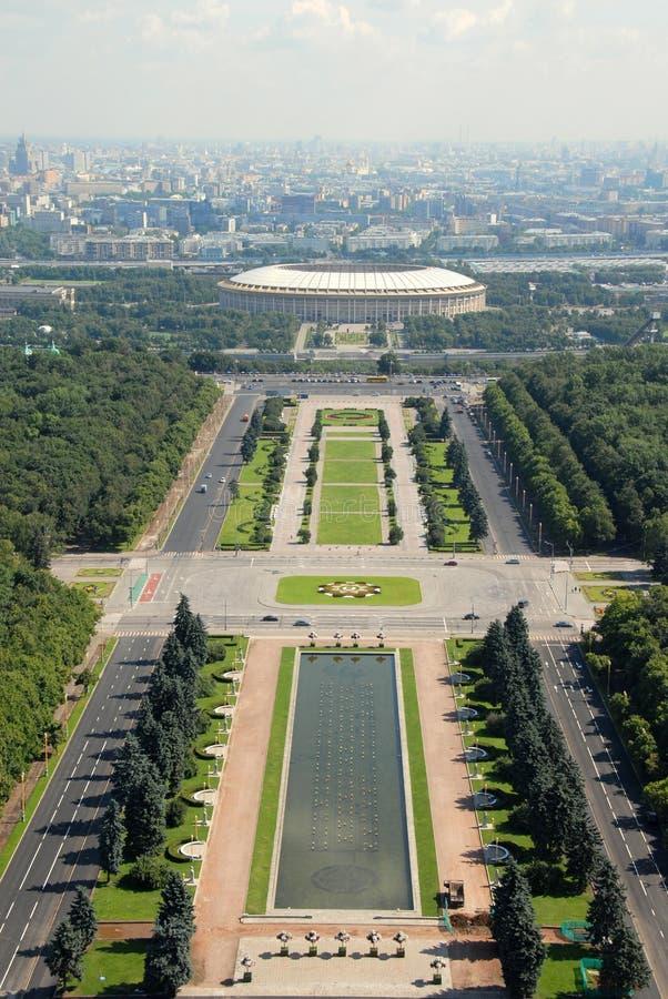 Arquitectura da cidade de Moscovo fotografia de stock