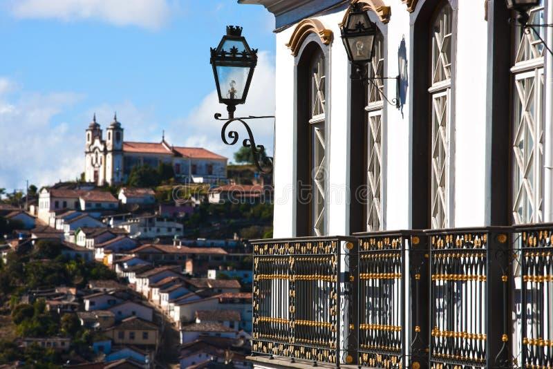 Arquitectura da cidade de Ouro Preto foto de stock