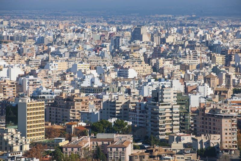 Arquitectura da cidade de Palma de Maiorca, Spain imagem de stock