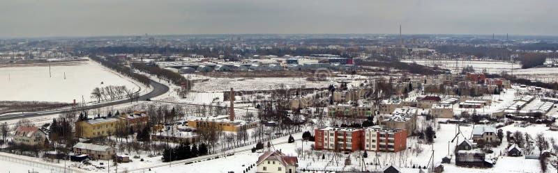 Arquitectura da cidade de Panevezys foto de stock royalty free
