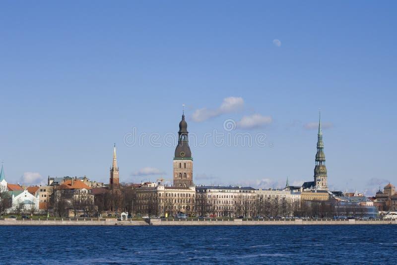Arquitectura da cidade de Riga, Latvia fotos de stock royalty free