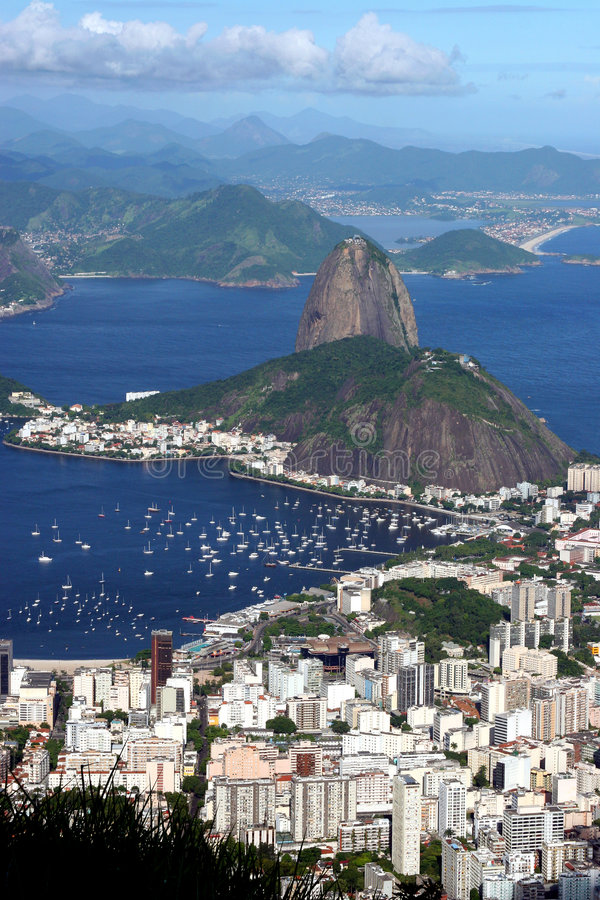 Arquitectura da cidade de Rio de Janeiro fotografia de stock royalty free