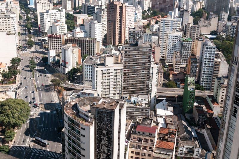 Arquitectura da cidade de Sao Paulo foto de stock