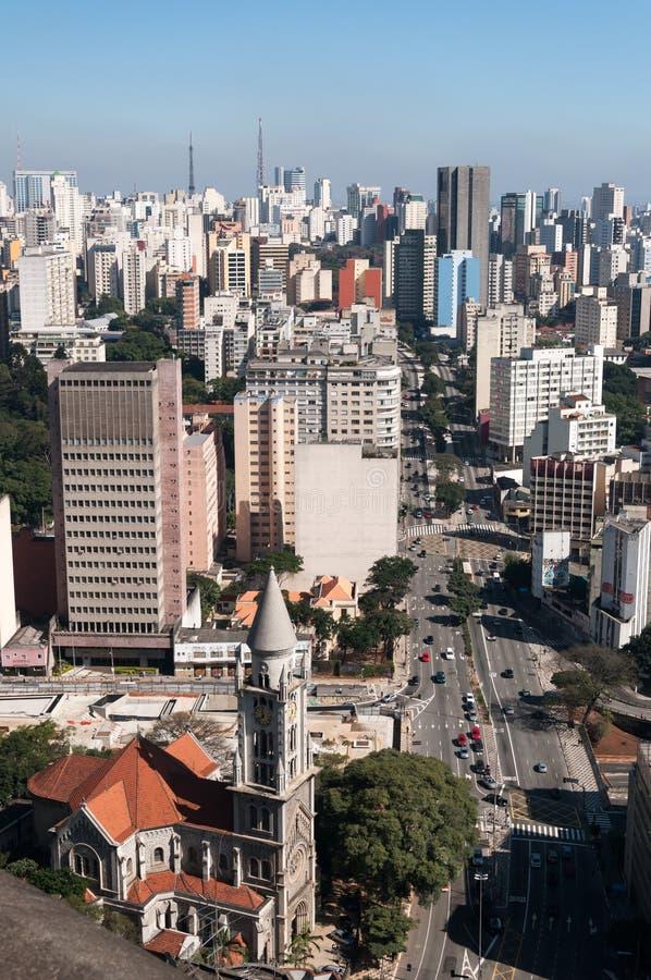 Arquitectura da cidade de Sao Paulo imagem de stock