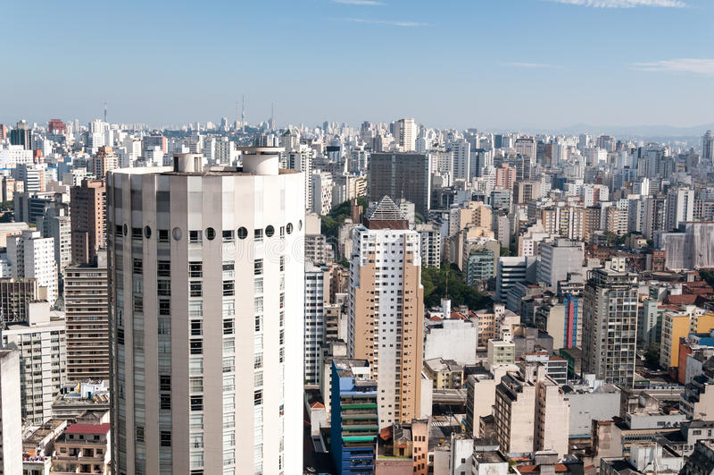Arquitectura da cidade de Sao Paulo fotos de stock