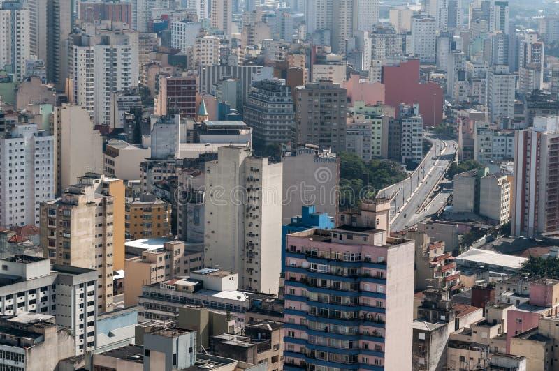 Arquitectura da cidade de Sao Paulo foto de stock royalty free