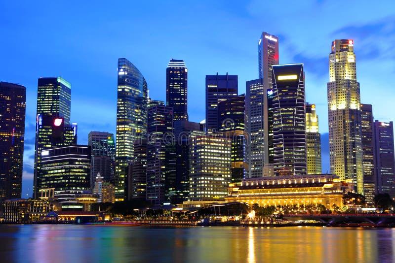 Arquitectura da cidade de Singapore imagem de stock
