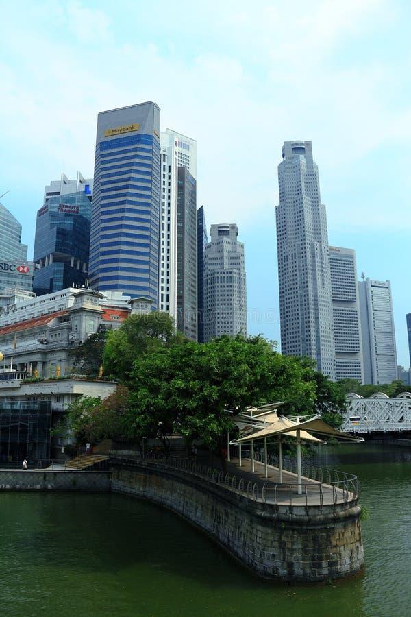 Arquitectura da cidade de Singapura imagem de stock royalty free