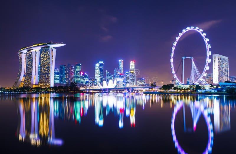 Arquitectura da cidade de Singapura foto de stock royalty free