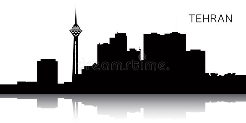 Arquitectura da cidade de Tehran ilustração stock
