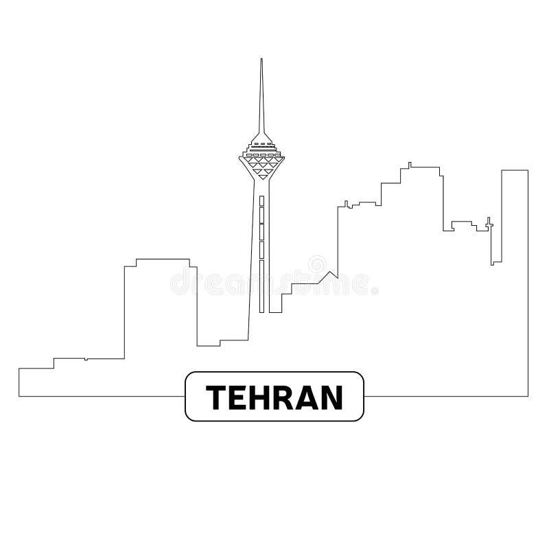 Arquitectura da cidade de Tehran ilustração do vetor