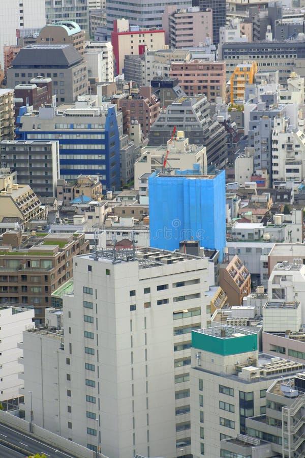 Arquitectura da cidade de Tokyo fotografia de stock