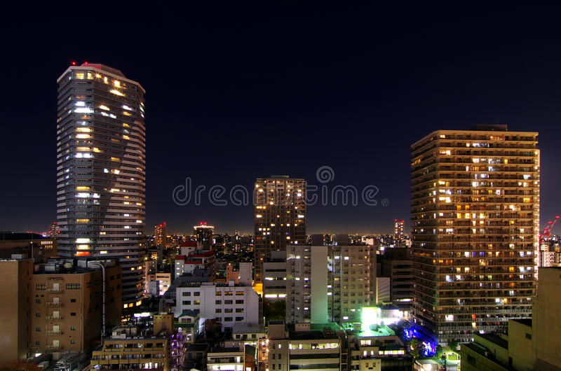 Arquitectura da cidade de Tokyo imagens de stock