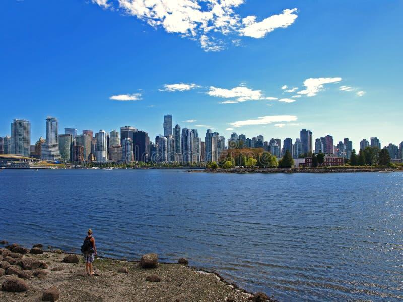 Arquitectura da cidade de Vancôver Canadá imagens de stock royalty free