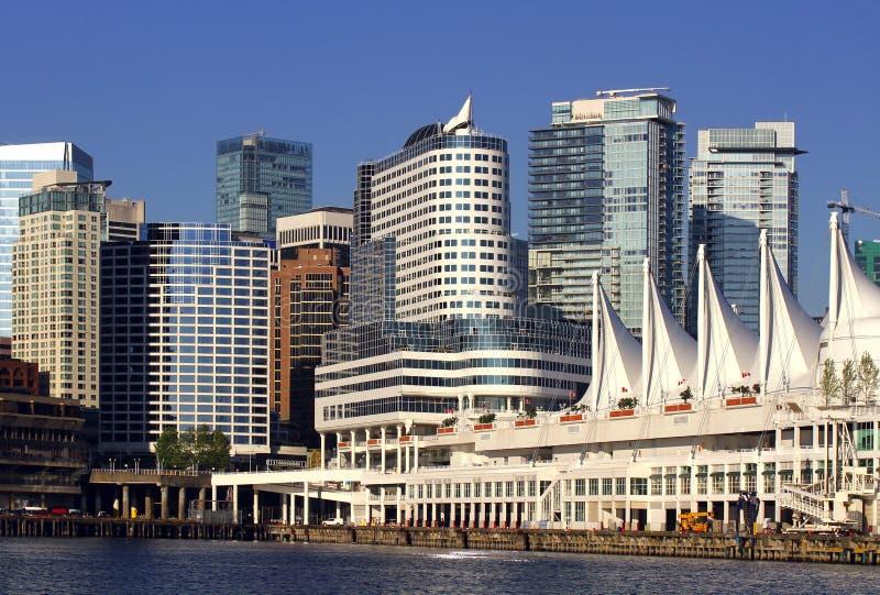 Arquitectura da cidade de Vancôver Canadá foto de stock royalty free