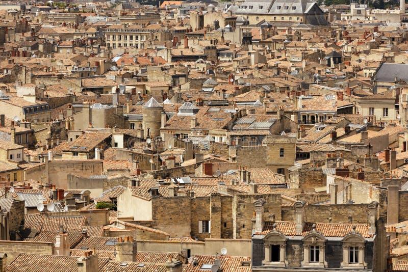 Arquitectura da cidade do Bordéus imagens de stock royalty free