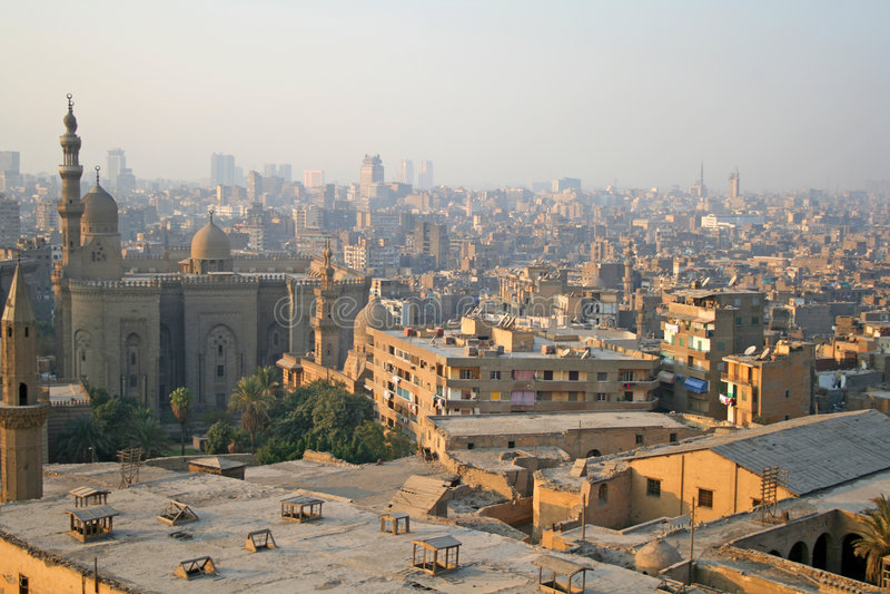 Arquitectura da cidade do Cairo foto de stock royalty free