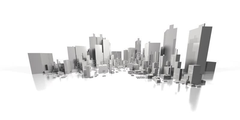 Arquitectura da cidade larga ilustração royalty free