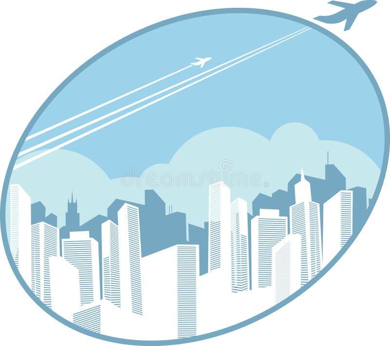 Arquitectura da cidade urbana ilustração stock