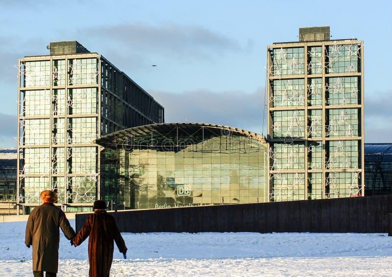 Arquitectura de Alemania Edificios en Berlín Euro-viaje en invierno imágenes de archivo libres de regalías