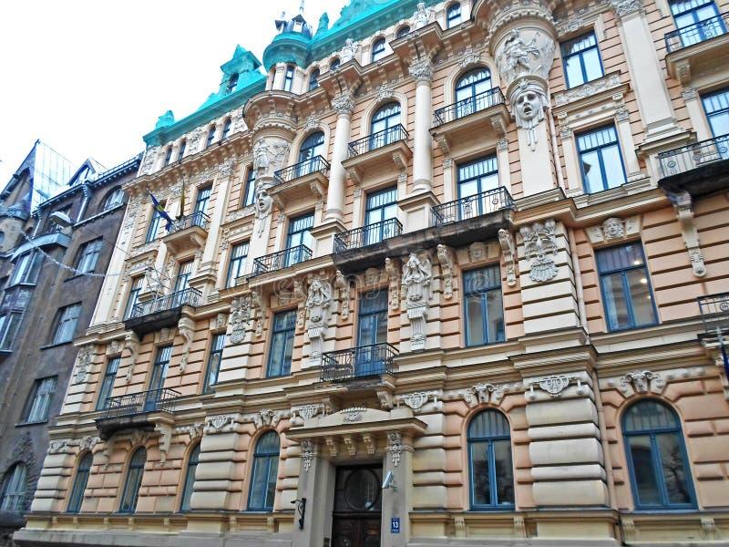 Arquitectura de art nouveau en riga fotograf a editorial Art nouveau arquitectura