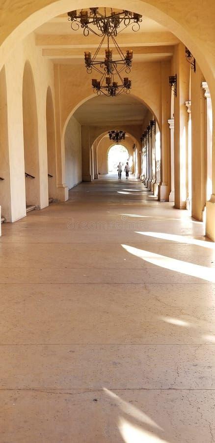 Arquitectura de Casa del Prado Historic en el parque San Diego California del balboa foto de archivo libre de regalías