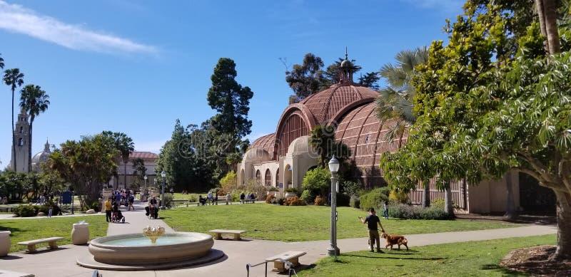 Arquitectura de Casa del Prado Historic en el parque San Diego California del balboa foto de archivo
