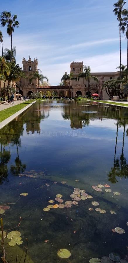 Arquitectura de Casa del Prado Historic en el parque San Diego California del balboa imágenes de archivo libres de regalías