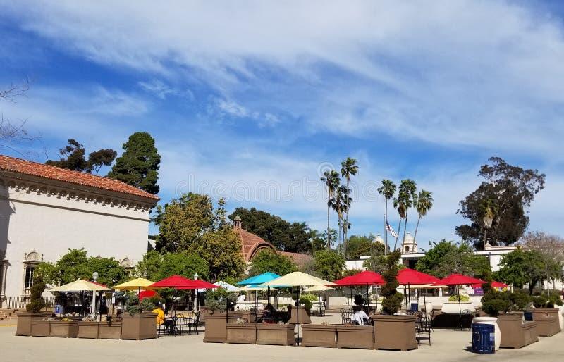 Arquitectura de Casa del Prado Historic en el parque San Diego California del balboa fotografía de archivo libre de regalías