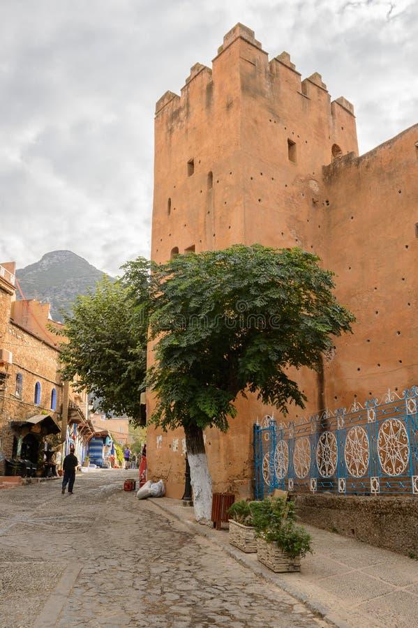Arquitectura de Chefchaouen, Marruecos fotografía de archivo