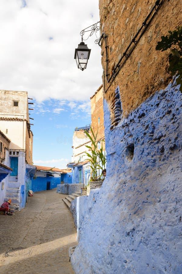 Arquitectura de Chefchaouen, Marruecos fotos de archivo