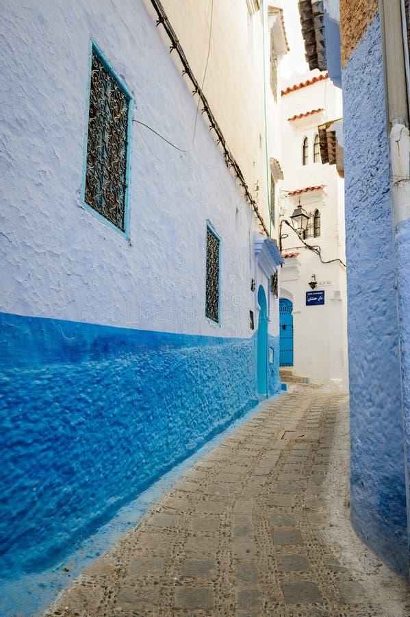 Arquitectura de Chefchaouen, Marruecos fotos de archivo libres de regalías